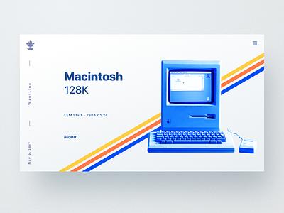Macintosh plate computer mac wantline clean blue macintosh web ui
