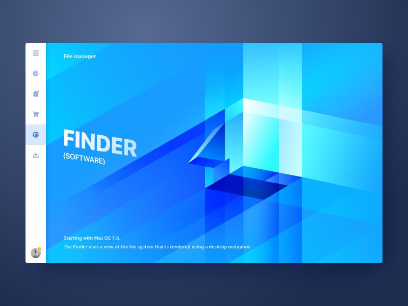 Finder illustrator os mac finder web wantline untitled ui flat colorful clean blue