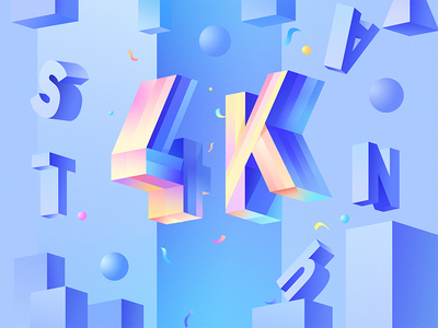 4K+ followers web wave water ui typography sea illustration graphic gradients drops colors
