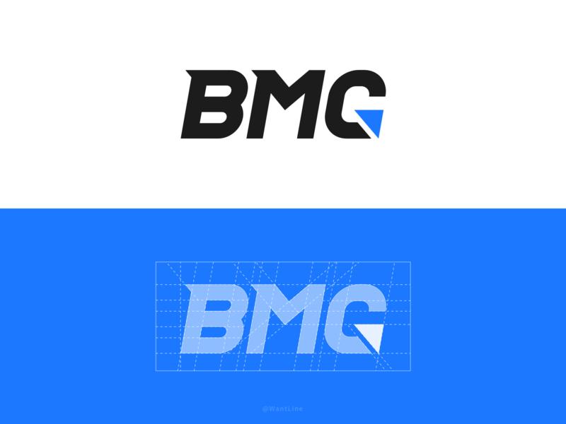 AISWare BMG LOGO font design font logo branding blue icon flat type