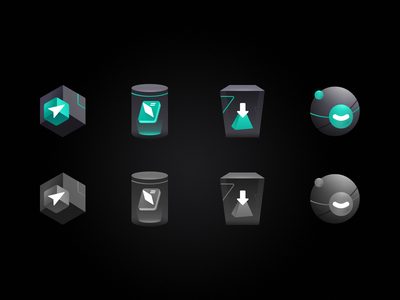 Some icons guide standard service start download illustration flat icon