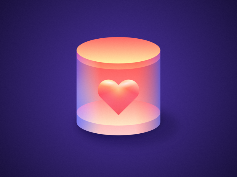 Love pot logo illustration clean wantline icon flat