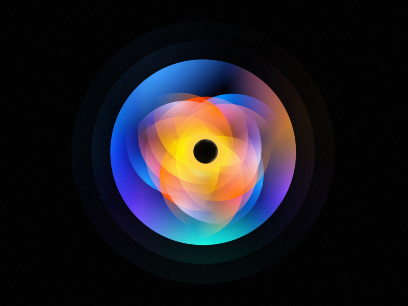 Black hole colorful illustration clean icon flat