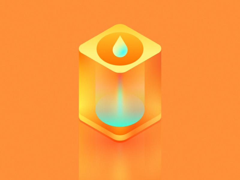 Glass orange juice orange illustration clean wantline icon flat