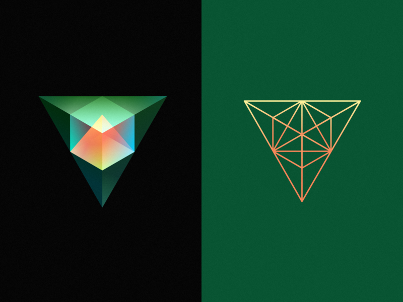 Triangular cube graphics vector cube illustration clean wantline icon flat