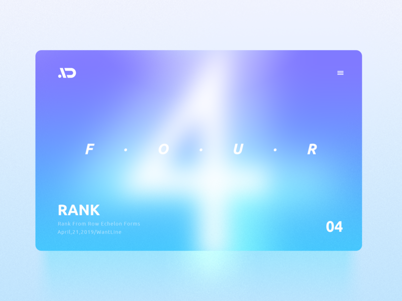 Rank-04 four number webpage web  design typography design web blue illustration wantline flat