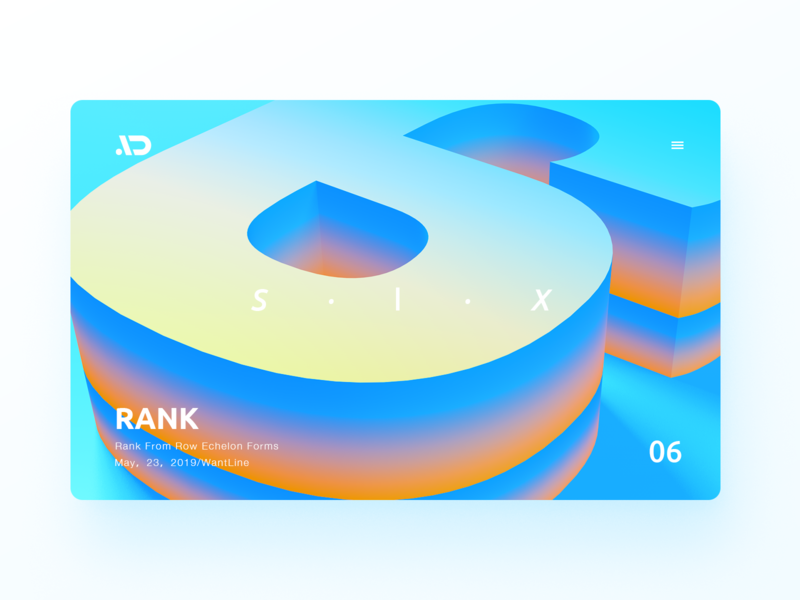 Rank - 06 branding typography gradient ux vector color colorful sketch design ios app logo web ui blue illustration icon clean wantline flat