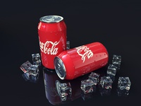 daily UI_60 Coke cans modeling and rendering