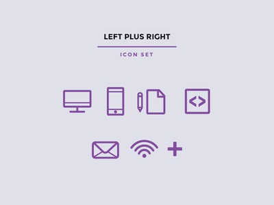 Left Plus Right Icon Set
