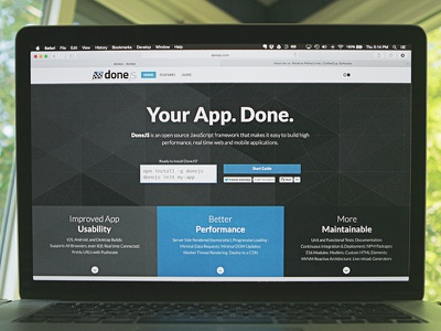 DoneJS Site layout site canjs donejs javascript framework