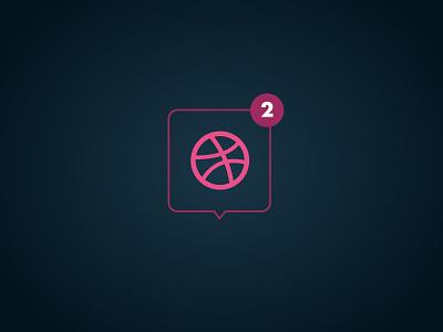 2 Dribbble Invites dribbble alert icon invites