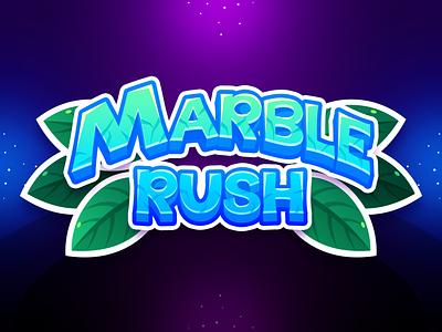 Marble Game: Title Design mobile app mobile ui mobile typo text illustration typogaphy title game title design uidesign ui match3 game design game art game ui game
