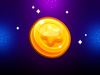 Marble Game: Coin Icon illustration mobile app mobile game game ui game design game art game golden gold money currency icon design coin icon
