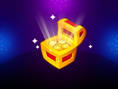 Marble Game: Reward Button treasure money coin reward icon design button design button uidesign illustration icon game ui ui game design game art game