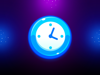 Marble Game: Clock Icon timing time icon time clock icon clock game illustration design game uiux game ui icon