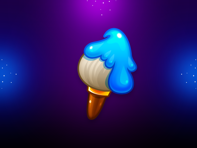 Marble Game: Brush Icon brush icon brush icon illustration icon design game design game art ui game uiux game ui icon game illustration
