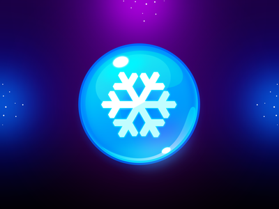 Marble Game: Frost Icon game design game art snow frozen icon frost icon booster frozen frost orb ui game uiux illustration game ui icon game