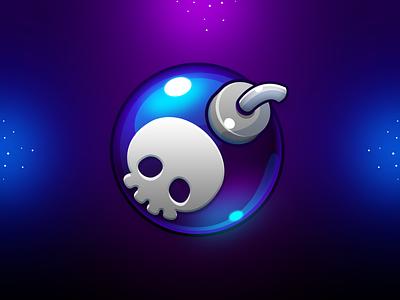 Marble Game: Bomb Icon icon design game icon booster icon bomb icon skull icon skull bomb match 3 game design game art design ui game uiux game ui icon game illustration