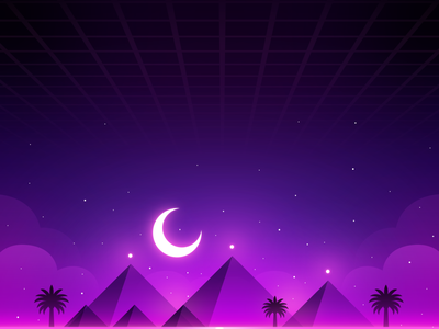 Weekly Warm Up: Night in Egypt egypt pyramid landscape illustration weekly challenge weekly warm up desert background peaceful landscape illustration great pyramid giza cheops pyramid egypt