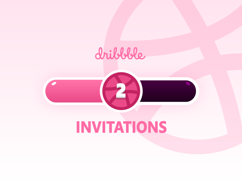 2 Dribbble Invitations! invitation tickets invitations invites loading pink design dribbble tickets ticket welcome shot dribbble invitation dribbble invite invitation
