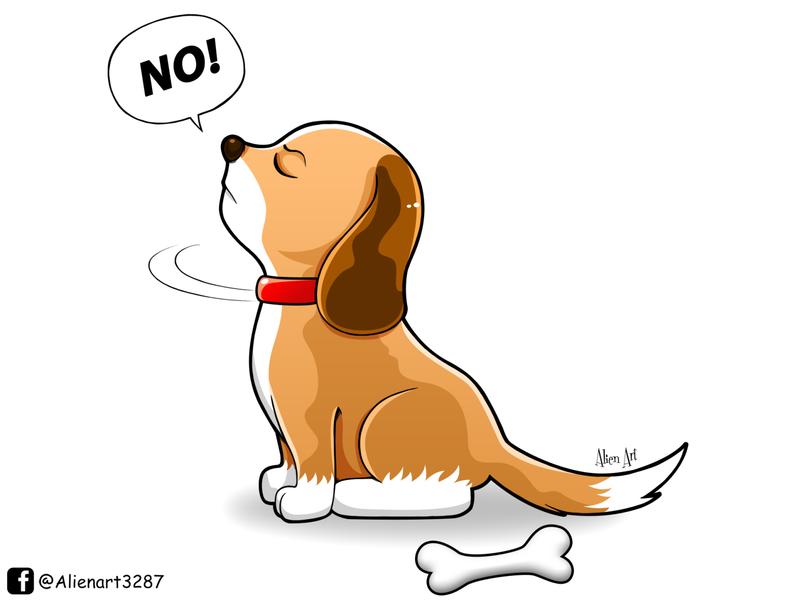 Haughty Dog animal illustration bone bad word illustration art chibi cartoon cute animal dog character design character illustrator illustration