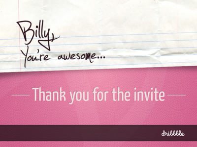 Thanks Billy! thank you thanks debut note