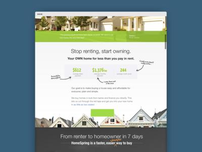 HS Microsite homespring home web design mindlab microsite website