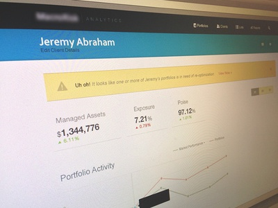 Financial Planner Client Dashboard financial graph dashboard metrics