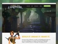 Everquest Next Landmark website web design video game mmo playing around