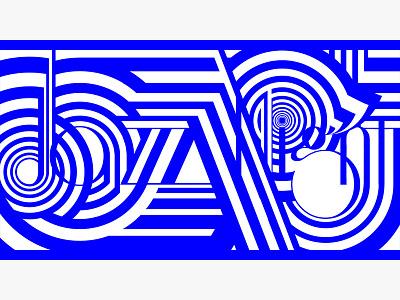 Jazz Night graphic design jazz lettering