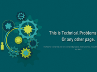 CSS3 Animated Technical Problems Page