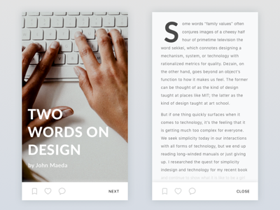 Typography Concept ui mobile ios