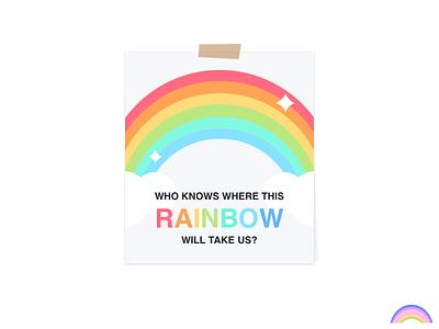 🌈 Rainbow illustration print colorful quote rainbow