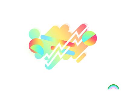Exploration 🌈 daily colorful illustration rainbow