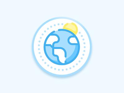 Sunny St. Petersburg, FL blue sunny sun sticker weekly challenge