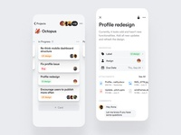 Kanban board — mobile app for the Twinkle project jira scrum atlassian mobile ios app library components design system backlog in progress wip trello notion roadmap project board kanban