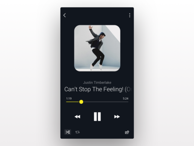 Music Player Concept ux ui ios timberlake justin dark sound app music