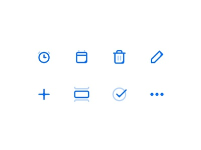 Icons — Tasker app remidner side project checklist list ios todo task blue liquid icon set icons