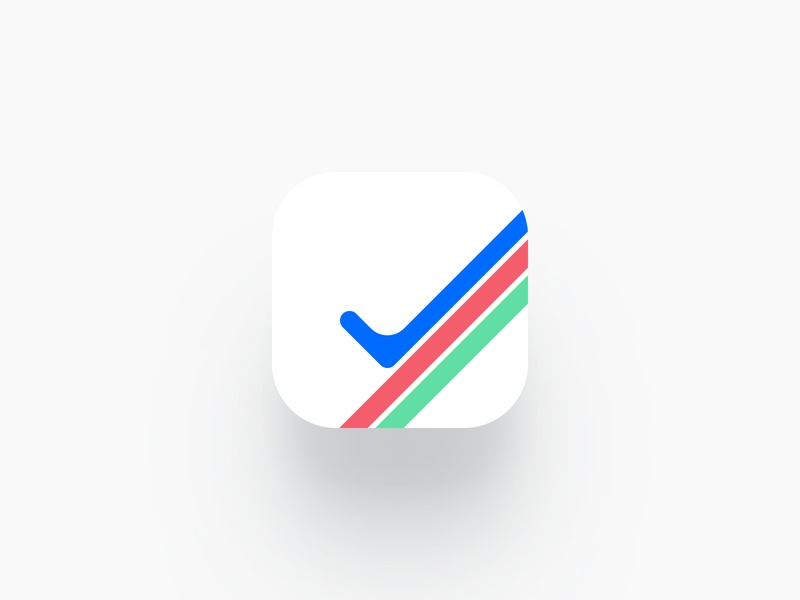 App Icon — Tasker icon green red blue logo product mobile todo task ios app