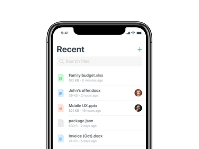 Recent — Shary app