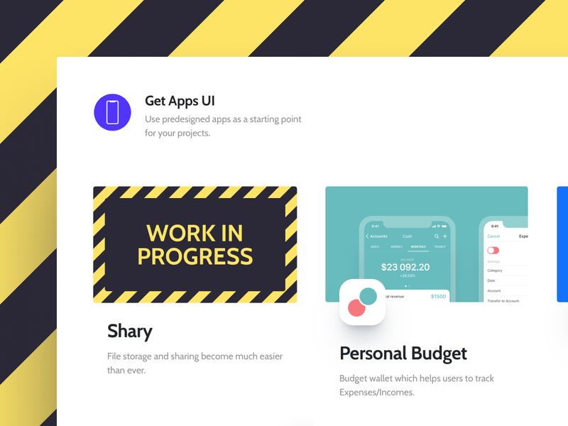 Work in progress post type freebie free website product design product wordpress side-project side project web ios app