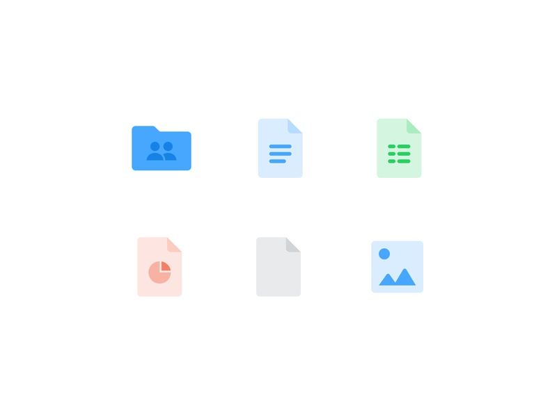 Documents Icons set — Shary app