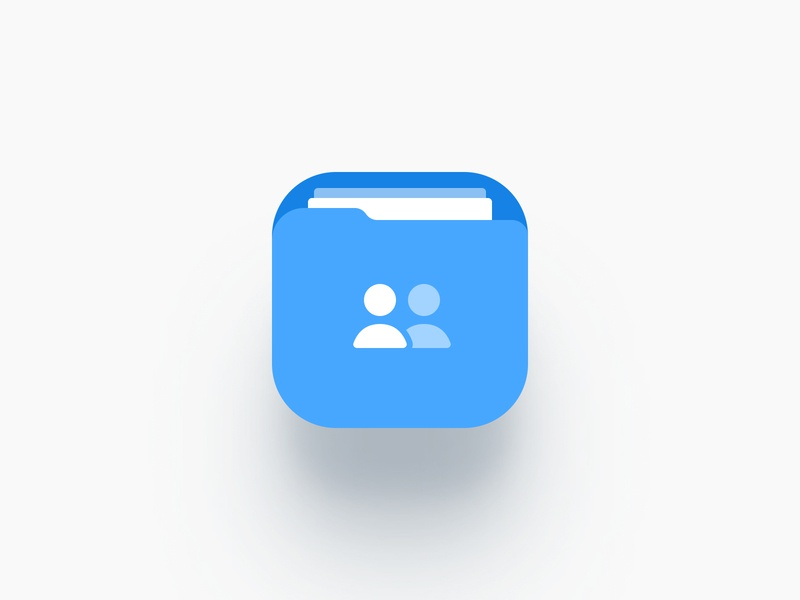App Icon — Shary app drive clear simple white blue and white blue shared cloud icon app icon logo free freebie mobile ios app
