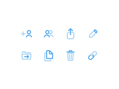 Third Icons set — Shary app icons set icons link delete remove copy move edit access share free freebie mobile ios app