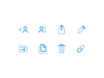 Third Icons set — Shary app