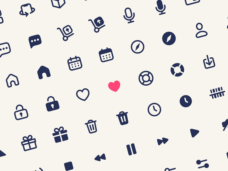 Icons Library for Figma users design product design mobile app ios mobile app freebie free components library filled outline linear iconography bunch pack icons set iconset icons