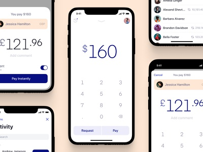 Send money fast with EASY payments uikit instant currency exchange pay cash fintech financial banking money send transfer mobile ios app