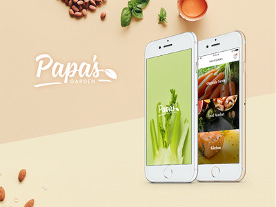 Papa's Garden Mobile App kit ui app mobile garden papa