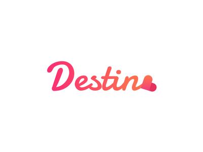 Destino Logo template sketch photoshop iphone dating ios mobile kit ui app destino