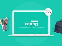 Keang Education PSD Template